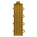 Claspgarten Gold clasp with 4 rows for use with Delicas 14843 - 26x7mm