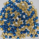 Dragon Scale beads in California Blue
