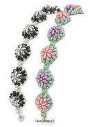 Bachelor Buttons bracelet by Sue Charette-Hood