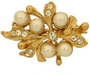 Claspgarten Gold Brooch 45075 - 25x16mm