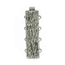 Claspgarten Old Palladium textured clasp with 4 rows 14832 - 28x10mm