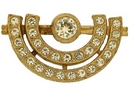 Claspgarten Gold Brooch 45274 - 27x16mm
