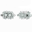 Claspgarten Silver flower clasp with 1 row 13860 - 18x10mm