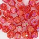 10mm unusual hand textured bead in Orange (1955)