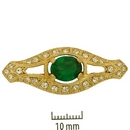 Claspgarten Gold Brooch 45278 - 40x15mm