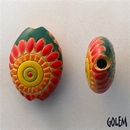 ABC-008-A-M - Golem Studio almond bead in Dragons Eye