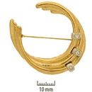 Claspgarten Gold Brooch 46441 - 42x40mm