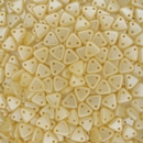 50 x Pearl Coat Cream two hole CzechMate Triangles