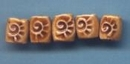 GRTB-002-IN Brown rectangular bead