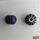 CSB-07-E - Golem Studio melon bead in Dark Delft