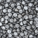 25 x large pinch beads in Pastel Light Grey (5x7mm)