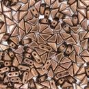 Two hole Bronze Tango beads