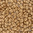 25 x Matt Metallic Flax two hole Lentils