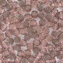 6mm Rose / Platina Window beads
