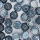 Cab126 - 12mm cabochon in Mottled Dark Blue (Vintage)