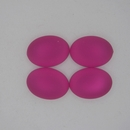 18.5x13.5mm Luna Soft Oval Cabochon in Fuchsia