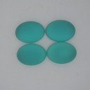 18.5x13.5mm Luna Soft Oval Cabochon in Blue Zircon