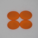18.5x13.5mm Luna Soft Oval Cabochon in Orange