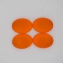 18.5x13.5mm Luna Soft Oval Cabochon in Orange