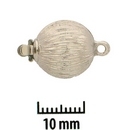 Claspgarten textured Silver ball clasp with 1 row 14529 - 12.5mm