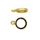 Claspgarten 5 Gold Rings for Lobster clasps 00345 - 12x9mm