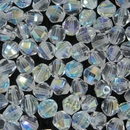 15 x 8mm Crystal Lustre multifaceted bicones (Czech)