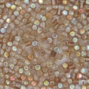 50 x 4mm cubes in Crystal Brown Rainbow