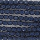 4mm string of snake skin beads in Cobalt Blue
