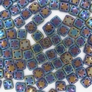 50 x CzechMate QuadraTiles in Blue Iris