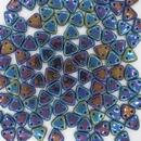 50 x CzechMate Triangles in Blue Iris