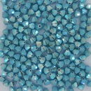 24 x 4mm Swarovski bicones in Turquoise AB2x