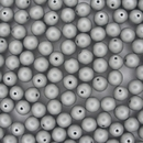 25 x 6mm round beads in Metallic Silver