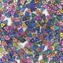 Tri-beads in Magic Blue