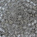 50 x Silver two hole Triangles