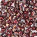 10 x 6mm Pyramids in Magic Wine