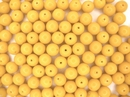 10 x 8mm round beads in Orange (1980s)