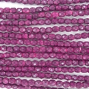 4mm string of snake skin beads in Fuchsia