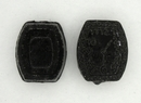 2cm Black Glass Watch Face bead (1940s)