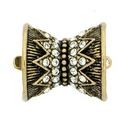 Claspgarten Old Gold clasp with 1 row 13586 - 14x15mm