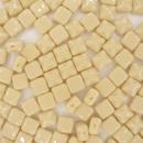 25 x 6mm silky beads in Opaque Beige