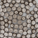 10 x 6mm 2 Hole Cabochon in Pastel Light Brown