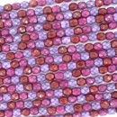 38 x 4mm snake skin beads in Berry Mix