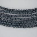 38 x 4mm snake skin beads in Placid Blue