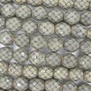 15 x 10mm snake skin beads in Sand