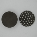 CLB-005-A-M Dark with White Polka dots Cabochon
