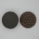 CLB-005-C-M Dark with Orange Polka dots Cabochon