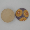 CLB-008-C-M Daisies on Purple Cabochon