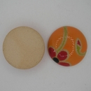 CLB-010-A-M Red poppies on Orange Cabochon