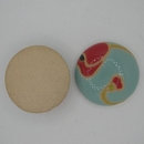CLB-013-C-M Poppies on Light Blue Cabochon