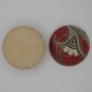 CLB-092-A-M Tuscany Red Paisley Flower Cabochon